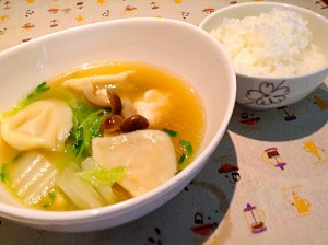 海老餃子スープ
