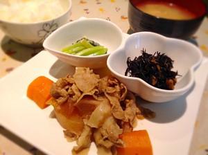 豚バラ大根定食