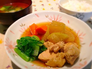 鶏大根定食
