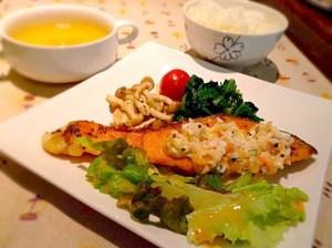 鮭のタルタルソース