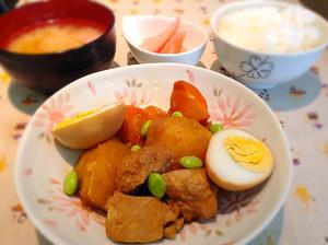 ☆鶏肉のさっぱり煮定食☆